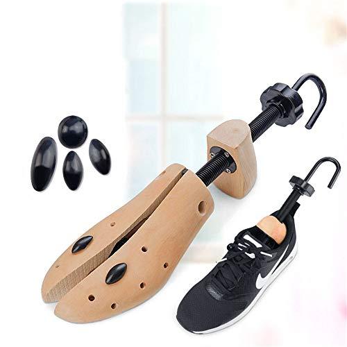 JHKGY - Extensor de zapatos de madera para zapatos, 2 vías, ajustable, unisex, para hombres y mujeres, 2 unidades, Small