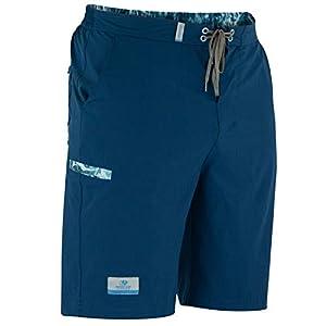 Mossy Oak Men's Quick Dry Fishing Board Shorts, Deep Sea Blue, Small