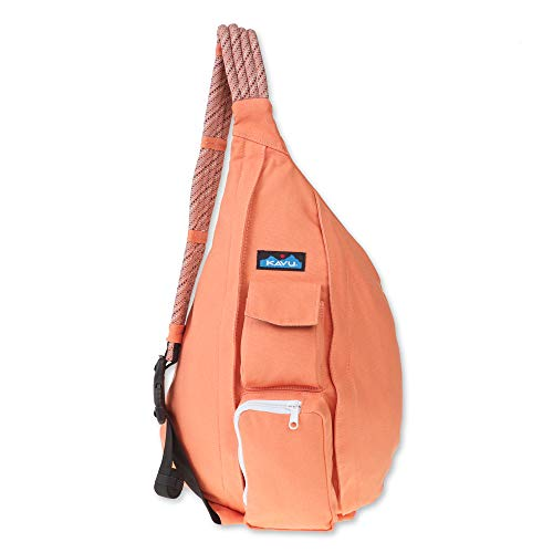 KAVU Rope Bag - Compact Lightweight Crossbody Sling - Peach
