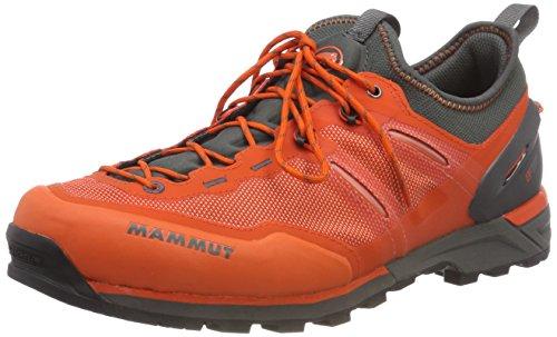 Mammut Herren Alnasca Knit Low Trekking- & Wanderhalbschuhe, Orange (Dark Orange/Graphite 000), 46 EU