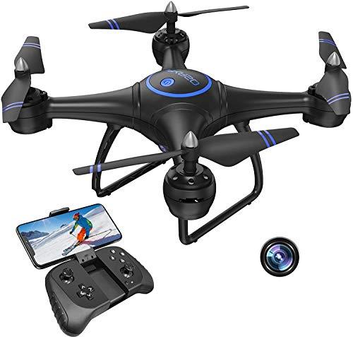 AKASO Drone con videocamera HD 1080P, Drone WiFi con Live Video FPV, Drone con Gravity Control, Percorso di Volo e La Luce a LED Replaceable, Facile da Usare per Principianti e Adulti(A31)