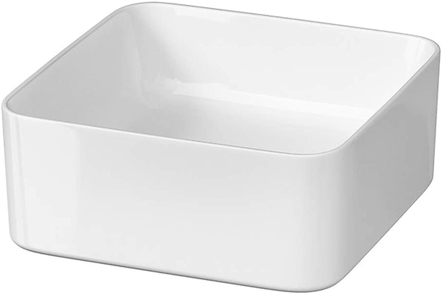 VBChome Modo Collection Ceramic Wash Basin Design Countertop Wash Basin for Bathroom Guest Toilet, White