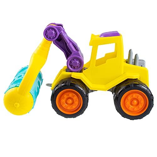 FancyBaby Traktor Kinder Spielzeug 30cm Baumaschinen Kinder Sand großen Rollenspielzeug Die Walze Outdoor und Indoor Sandspielzeug Muschelform Spielzeugauto Sandkasten lila / orange (DIE Walze)