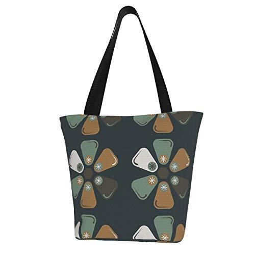 Mcm Tile Reusable Grocery Shopping Tote Bags Ecofriendly Portable Storage Handbag With Zipper