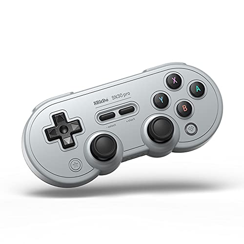 8Bitdo SN30 Pro Wireless Bluetooth Controller with Joysticks Rumble Vibration USB-C Cable Gamepad...