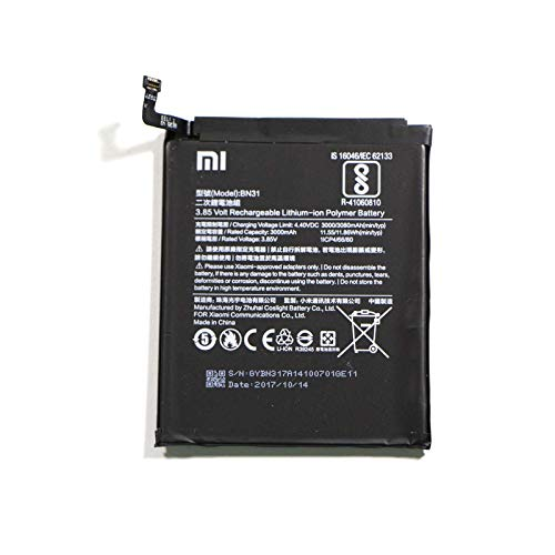 Bateria Original Xiaomi Modelo BN31 Con 3000mAh Para Xiaomi RedMi Note 5A / MI A1