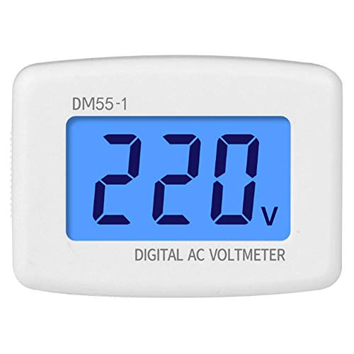 AC Voltmeter, Digital AC Voltmeter with Large LCD Display Screen, High Accuracy Panel Volt Test Monitor for Household Appliances, 110V-300V Measuring Range