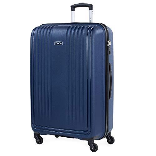 ITACA - Maleta de Viaje rígida de Polipropileno con Cerradura TSA 4 Ruedas Ligera y tamaño Grande...