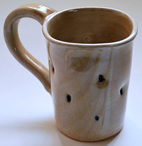 Square Manufacturer direct delivery SALENEW very popular Cream Mug with Cobalt Pottery Thrown Wheel Dimples