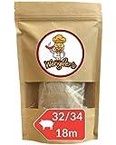 Wengler's - Budello Per Salsiccia Naturale Essiccato, Calibro 32/34 - 18 METRI, Per Carne Fresca, Involucro Insaccati Prima Scelta, Affumicabile, Adatto A Carni Di Suino, Maiale, Pecora (32/34 18m)