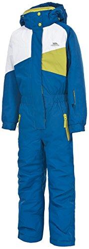 Trespass Kids' Wiper Skianzug, wasserdicht, Winddicht, isoliert, UCSUSKK20002, Electric Blue, Size 3/Size 4
