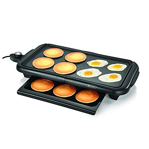 BELLA Electric Griddle w Warming Tray, Make 8 Pancakes or...