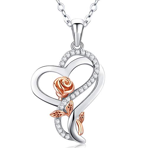 DESIMTION Rose Necklaces for Women,Mothers Day Jewelry Gifts for Mom Daughter Wife from Daughter,Anniversary Birthday Gift for Her