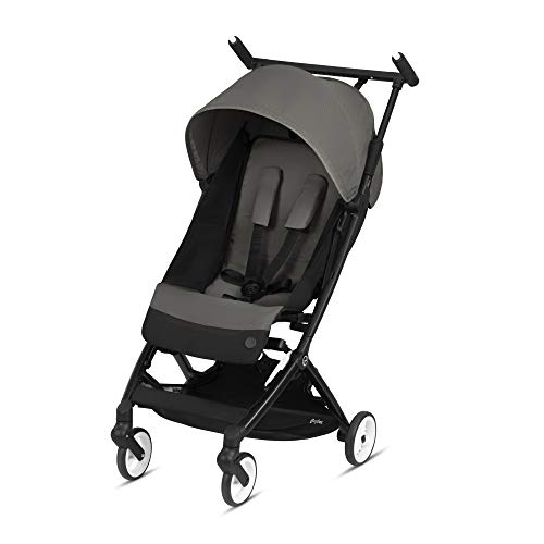 Cybex Libelle Stroller, Ultra Light Weight Stroller, Small Fold Stroller, Hand Luggage Compliant, Compact Stroller, Fits Car Seats Sold Separately Infants 6 Months+, Soho Grey