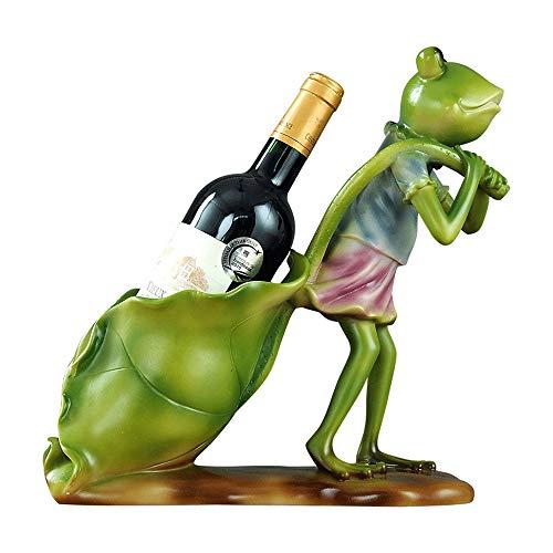 Rana Bastidor en Forma de Vino, de Resina - Precio inmejorable Estante del Vino, Vino de Tabla Decoración de Almacenamiento, 31 * 13 * 31 Cm