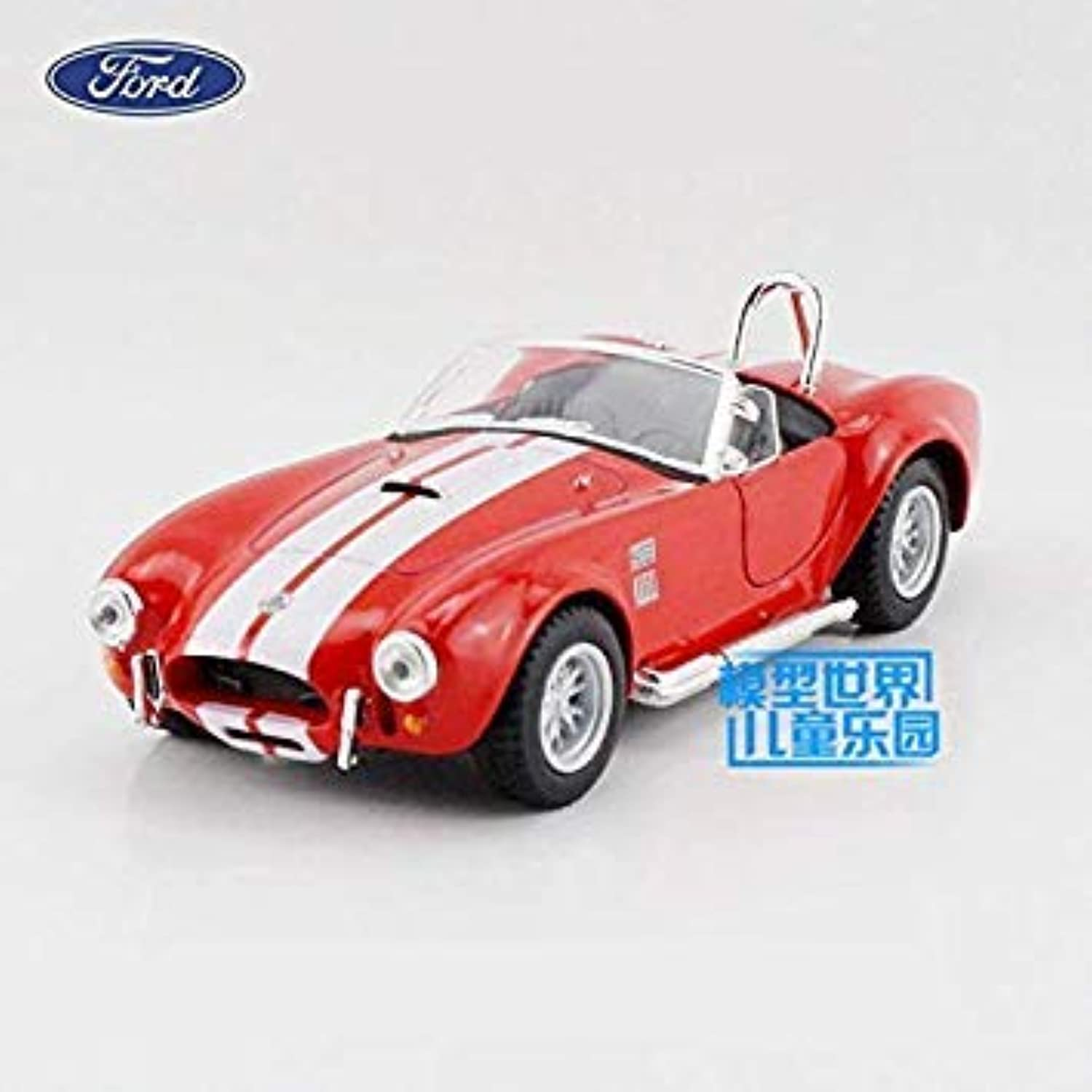 KiNSMART Toy Diecast Model 1 32 Scale 1965 Shelby Cobra 427 S C Pull Back Car Classical Collection Gift for Kid Red