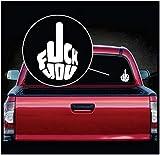 SUPERSTICKI Adhesivo decorativo para coche, diseño con texto 'F*ck You Mittelfinger aprox. 20 cm