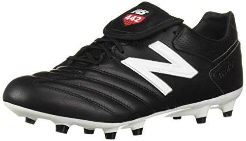 New Balance Men's 442 Pro FG V1 Classic Soccer Shoe, Black/White, 9.5 2E US