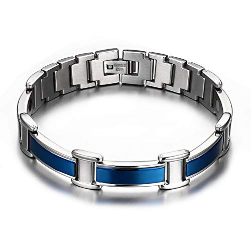 Edelstahl Klassisches Blau Armband Koreanisch Herren Schmuck Mode Stil Boutique Hand Schmuck Herren Damen Persönlichkeit Kreativer Schmuck