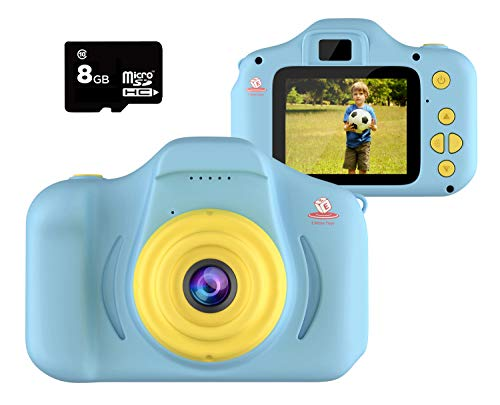 EMAAS Kids Camera Children - Digital Camera for Kids - Selfie Camera for Girls and Boys - Age 3 4 5 6 7 8 9 10 with 32GB SD Card Blue - Toddler Video Recorder and Photography– Includes 32GB SD Card