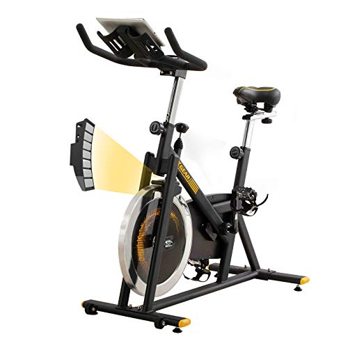 XGEAR Exercise Bike, Magnetic Resistant Spin Bike, Belt Drive Indoor Cycling Bike, Heavy Chromed Flywheel, App Recorder for Home Cardio Workout Aerobic Training