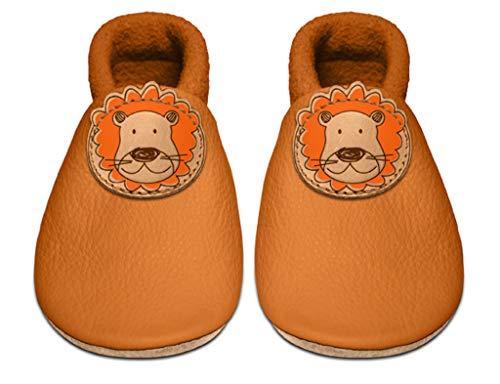 Sanolino Chaussures pour bébé, Fille et garçon Lou el Leon - Orange