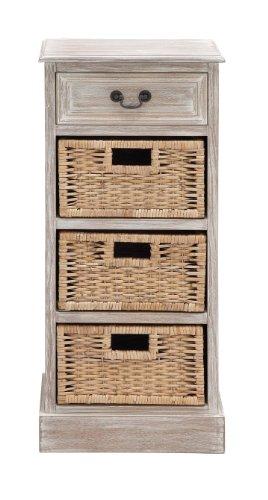 Deco 79 Kommode mit 3 Fächern, 40,6 x 91,4 cm