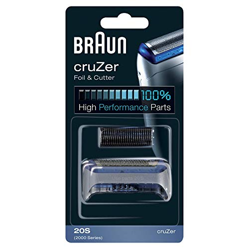 Braun 20S - Recambio para Afeitadora Eléctrica Hombre Cruzer, Láminas de Recambio con Portacuchillas, Color Plata