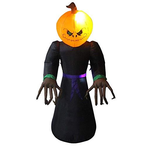 starshop Aufblasbare Kürbis Ghost, Halloween Aufblasbares Kostüm,Halloween Ghost Aufblasbares Modell Dekoration Aufblasbares Puppe Dekor Mit LED Entscheiden Für Halloween Party Requisiten