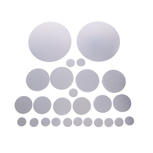 Amazingdeal 26Pcs DéCoratif Miroirs Wall Stickers Argent Rond Chambre Autocollants Muraux
