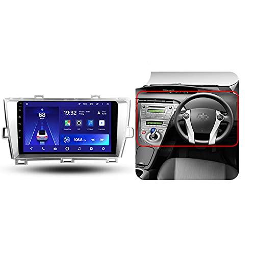 Android 10 9'' Car Multimedia 1 Din Para Toyota Prius XW30 2009-2015,Con Control Del Volante Cámara De Respaldo Enlace De Espejo 4G LTE+5G WIFI 3D Dinámica De Conducción En Tiempo Real,Right,2+32G