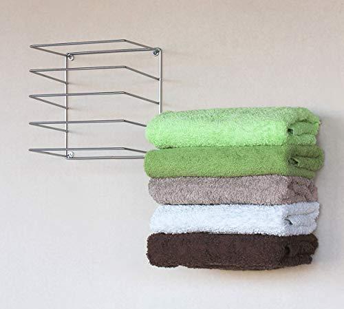 DanDiBo Handtuchhalter Chrome Wand Handtuchregal zur Wandmontage 2er Set 20 cm 93928 Unsichtbar Schwebend Wandhandtuchhalter Metall Modern Design