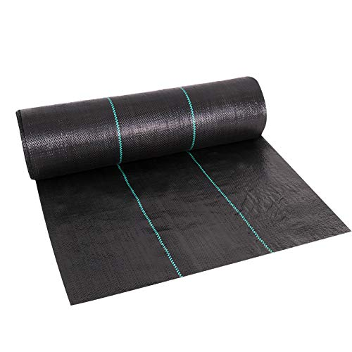 ZXC Weed Control Membrane Fabric Heavy Duty Ground Cover UV Stabilised for Gardens,Flower Beds,Landscaping,Pathways,Drives,Under decking(Size:0.6 * 200m)