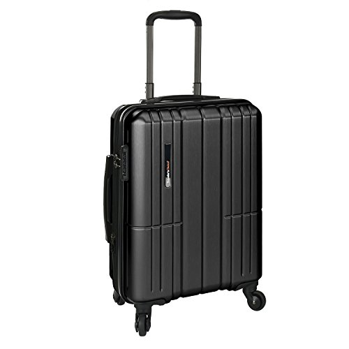 Traveler's Choice Wellington Polycarbonate Hardside Expandable Spinner Luggage, Charcoal, Carry-on 21-Inch