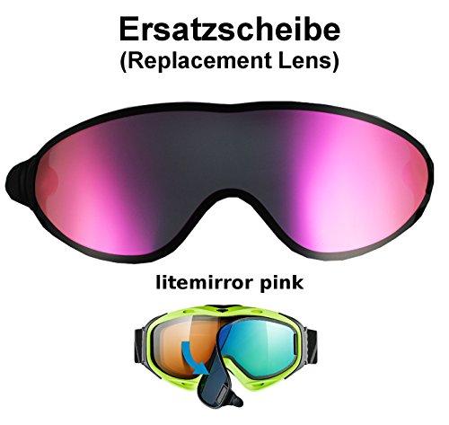 Uvex Comanche to & TOP take Off ESS Ersatzscheibe - Single Lens litemirror pink für Skibrille Comanche als take Off