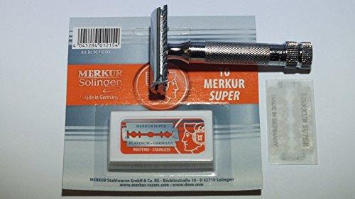 Merkur 34C plus 10 Merkur Rasierklingen im Set