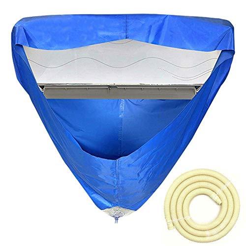 Sacchetto di lavaggio per pulizia del condizionatore d'aria, coperchio a parete per condizionatore d'aria con bocchettone di drenaggio e tubo per l'acqua impermeabile antipolvere antipolvere