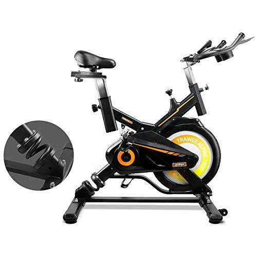 gridinlux. Trainer Alpine 7500. Bicicleta Spinning Pro Indoor. Volante de Inercia 15 kg, Nivel Avanzado, Sistema de Absorción de Impactos, Pantalla LCD, Fitness
