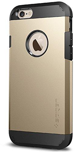 Spigen SGP11613 Tough Armor für iPhone 6S/6 Hülle, Doppelte Schutzschicht Handyhülle für Extrem Fallschutz Schutzhülle Case Champagne Gold