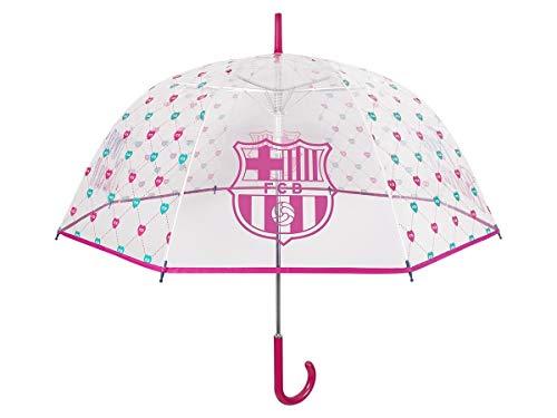 Paraguas Transparente Barcelona para Mujer - Sombrilla Larga con Escudo Original de...
