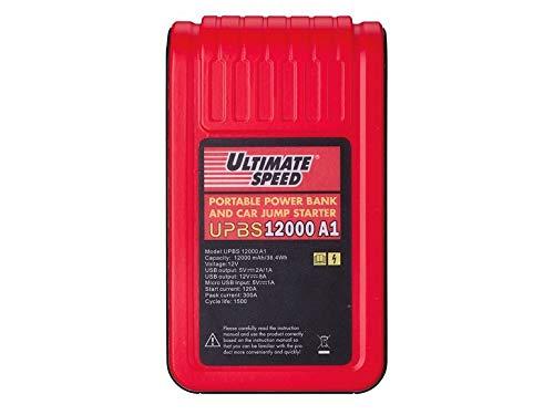 ULTIMATE SPEED® Powerbank mit Starthilfefunktion (ORIGINAL TOP ROBUST Quality) 2 USB-Anschlüssen und Micro-USB-Anschluss/Integrierte LED-Taschenlampe/Modernste Lithium-Ionen-Technologie