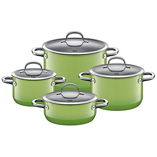 Silit - Batería de cocina 4 Piezas, Verde (Passion)