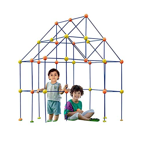 Newest Upgrade Fort Building Kit,158 Pcs Creative Fort Building Set Play,Kids Construction Tower Building Toys, DIY Building Castles Tunnels Play Tent Rocket Tower Indoor & Outdoor