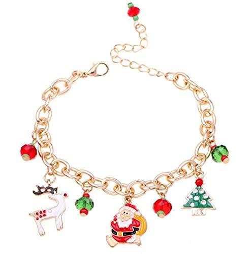 N-brand PULABO Weihnachten Armband Hand Kette Santa Elk Weihnachtsbaum Anhänger Geschenk für Mädchen Kinder Stocking Filler Alloy Neu freigegeben und beliebt langlebig