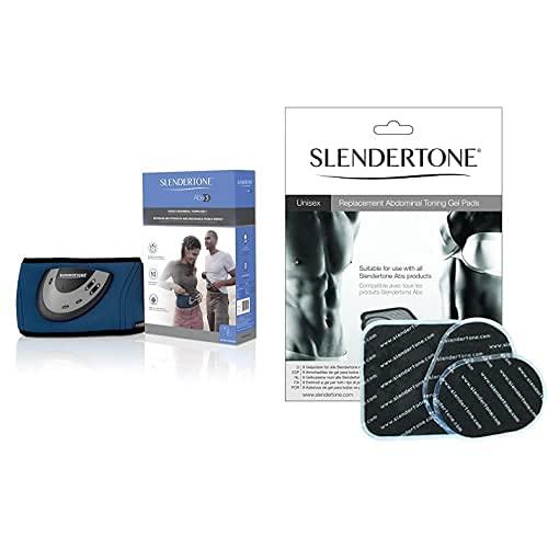 Slendertone EMS-Bauchtrainer Flex MAX Electroestimulador Abdominal, Unisex, Negro, Talla Única + Ceinture Electrodos De Repuesto para Cinturón Abdominal, Unisex, Talla Única
