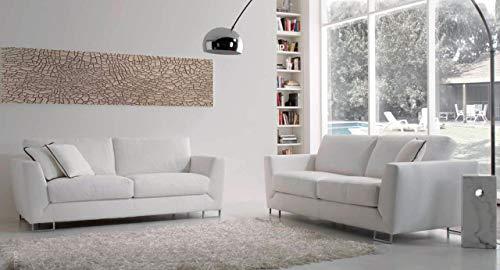 Sofá moderno de piel sintética blanca