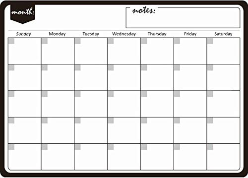 DQANIU Message Memo, Calendar, Refrigerator Magnetic Calendar Schedule Dry Erase Refrigerator Magnetic Calendar with Blank Note Record important things
