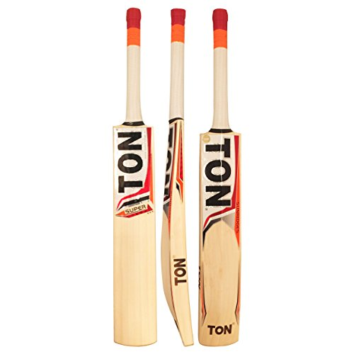 SS Ton Super English Willow Cricket Bat by Sunridges - Light Weight 2.7 to 2.9 lbs - Free bat cover included with your purchase - Short Handle