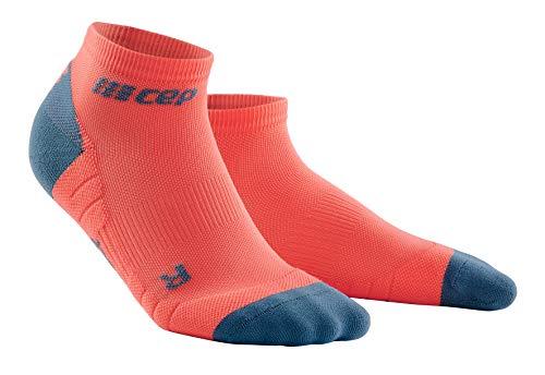 CEP – Low Cut Socks 3.0 für Herren | Kurze Sportsocken für Dein Workout in Coral/grau | Größe III