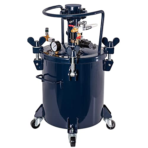 TCP Global Commercial 5 Gallon (20 Liters) Spray Paint Pressure Pot Tank with Air Powered Mixing Agitator